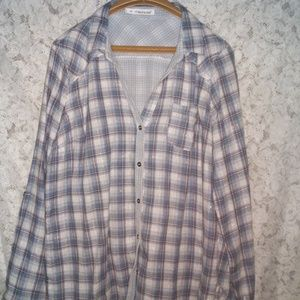 💋MAURICE'S PLUS SIZE 1X BUTTON UP CAMP SHIRT 💋